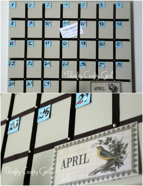 DIY Canvas Calendar