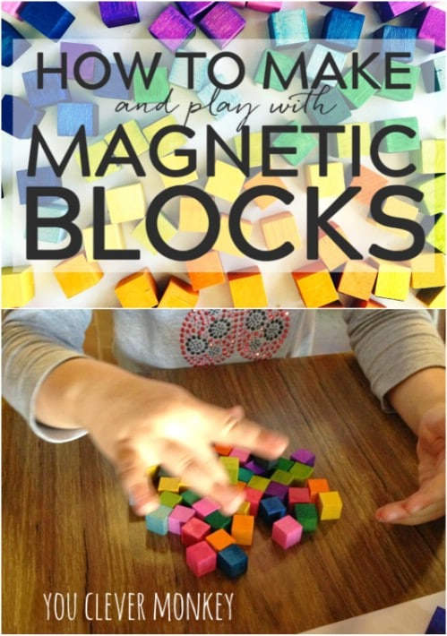 DIY Mini Wooden Magnetic Blocks