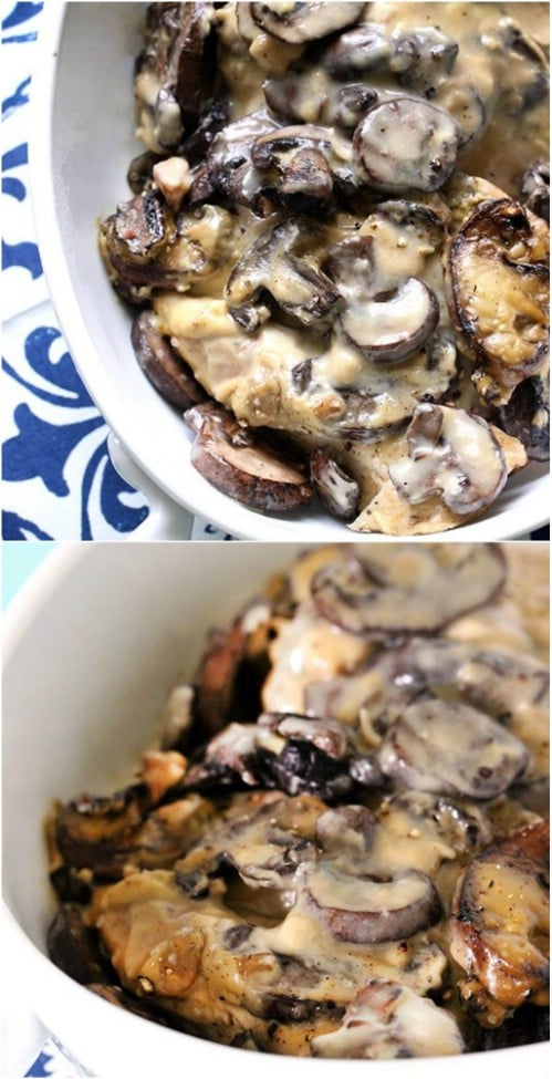 Creamy Homemade Portobello Chicken