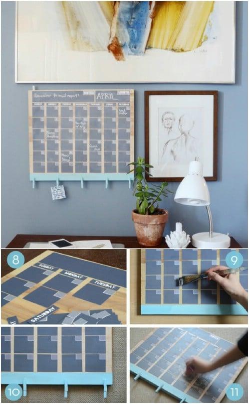 DIY Perpetual Chalkboard Calendar