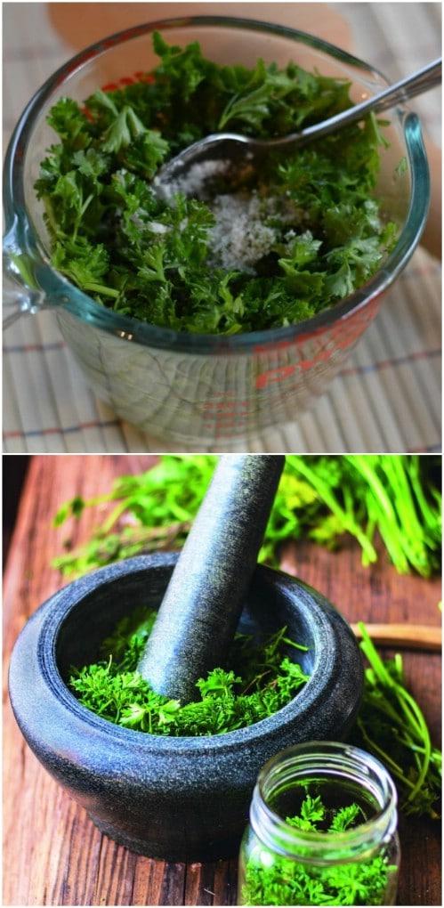 Brine Ferment Herbs For Months Of Storage