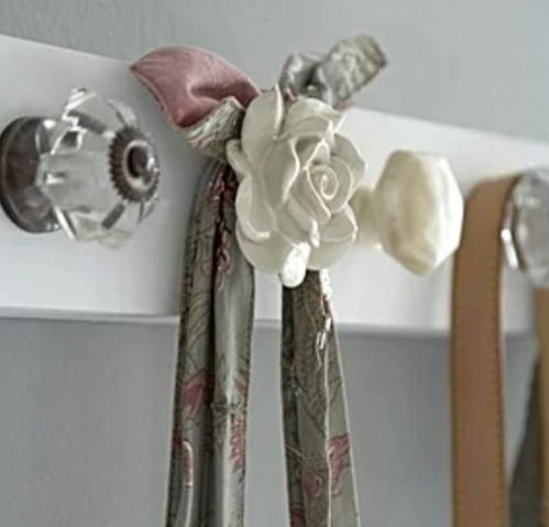 Repurposed Drawer Knob Coat Rack