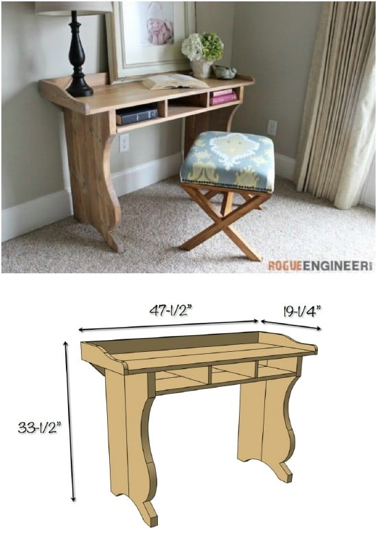 DIY Sicily Writing Desk