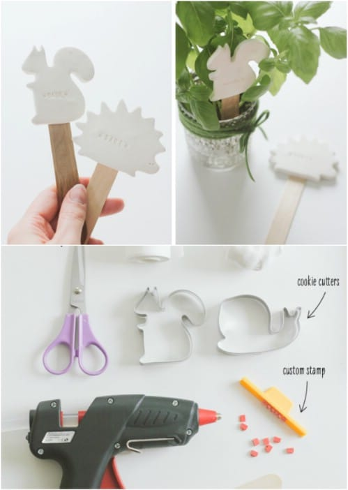 DIY Stamped Clay Markers