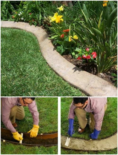 DIY Concrete Garden Edging
