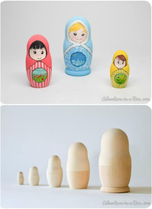 Educational Wooden Nesting Dolls