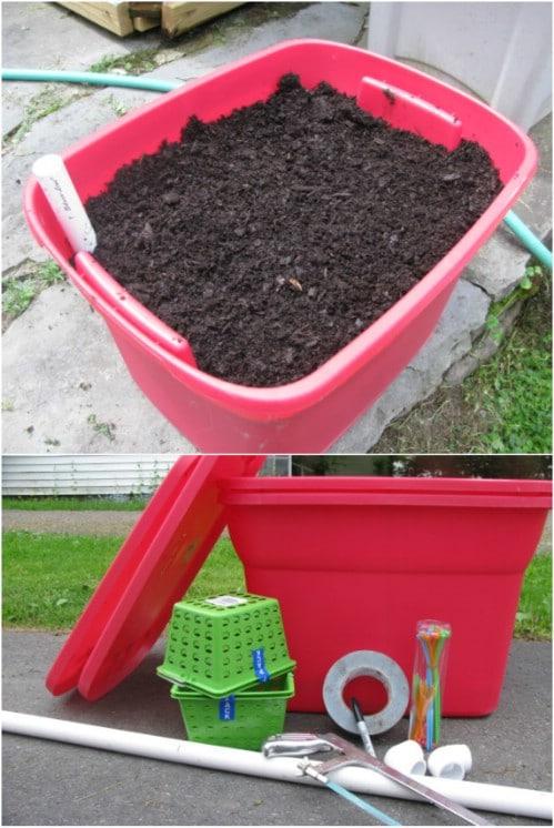 DIY Self Watering Cage Planter