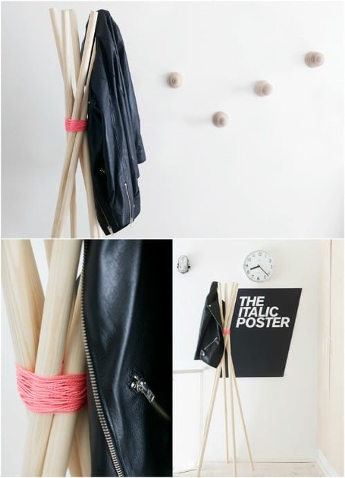 Easy DIY Coat Tree