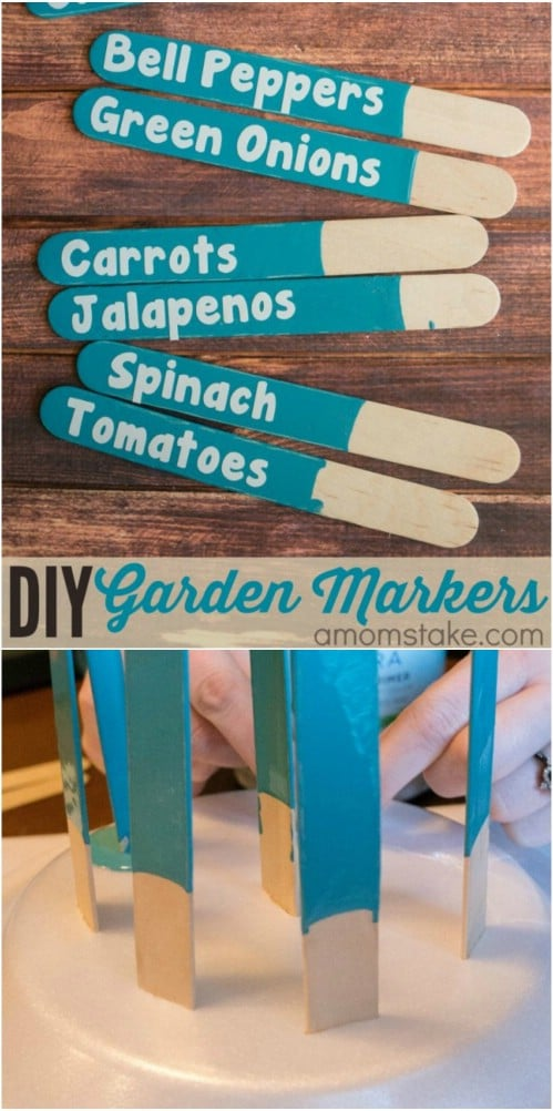 Easy DIY Popsicle Stick Garden Markers