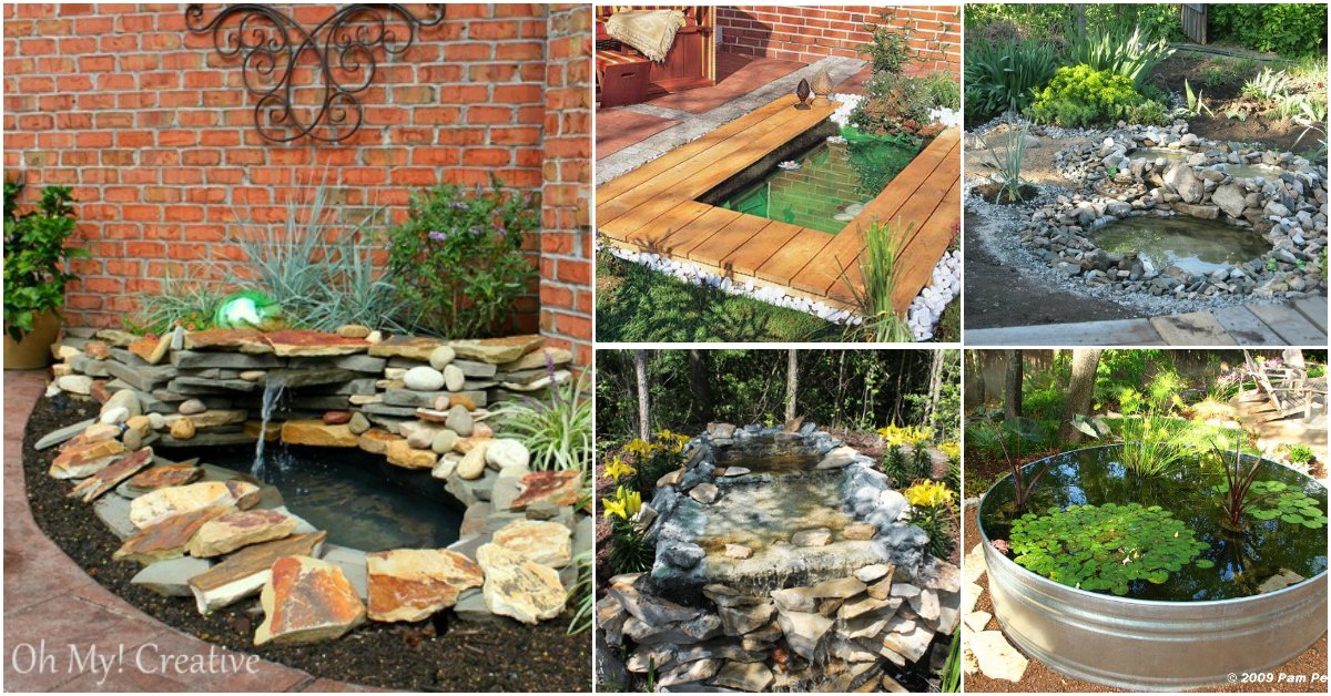 15 Budget Friendly Diy Garden Ponds You Can Make This Weekend Diy Crafts