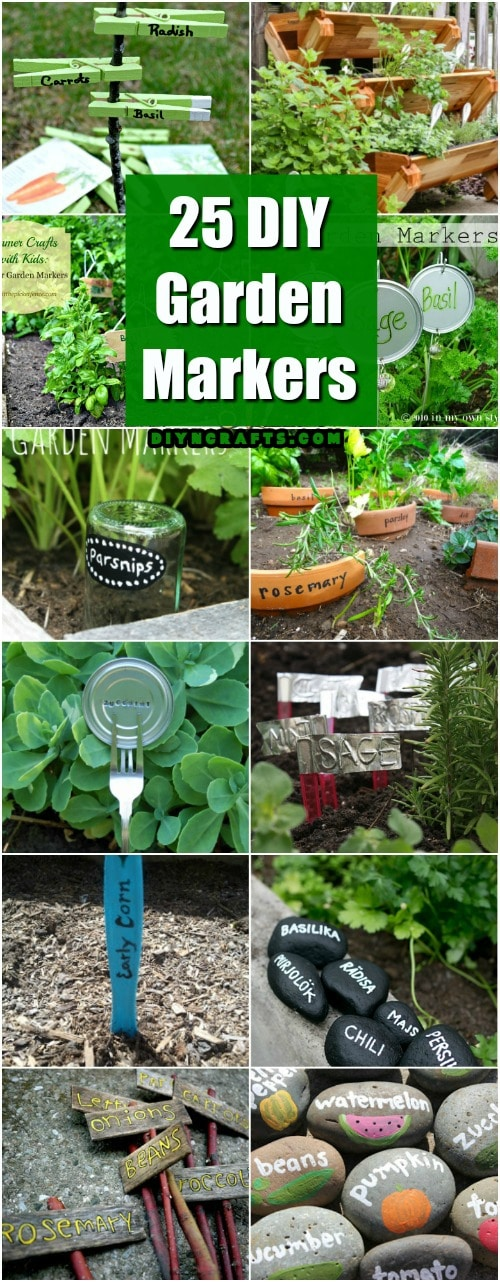 25 DIY Garden Markers To Organize And Beautify Your Garden