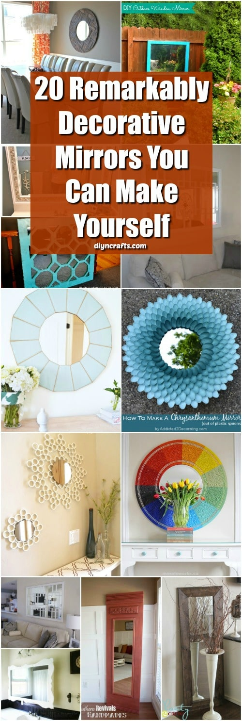 20 Remarkably Decorative Diy Mirrors To Beautify Your Home Diy