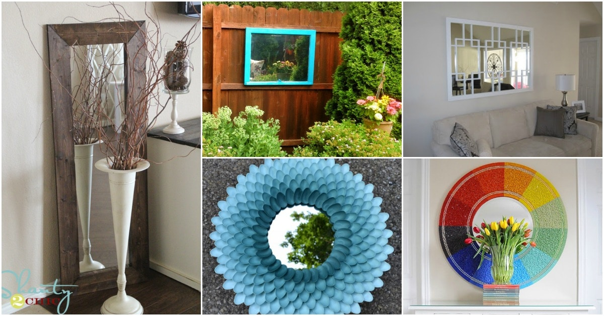 20 Remarkably Decorative Mirrors You Can Make Yourself