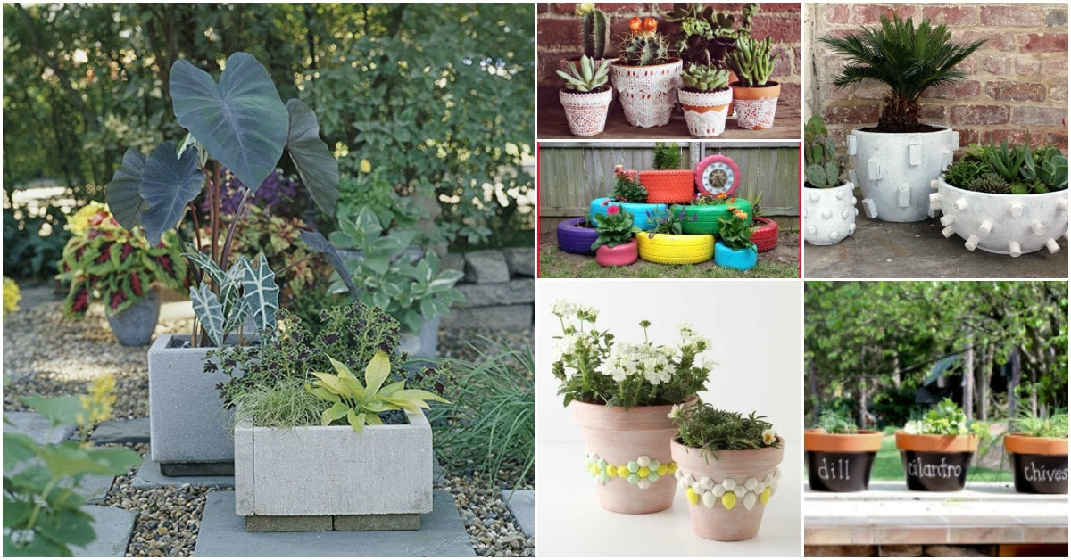 25 Diy Garden Pots That Add Decor To Your Outdoor Living