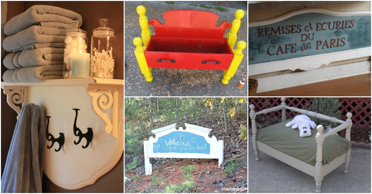 20 Astonishing Repurposing Ideas For Old Headboards And Footboards Diy Crafts
