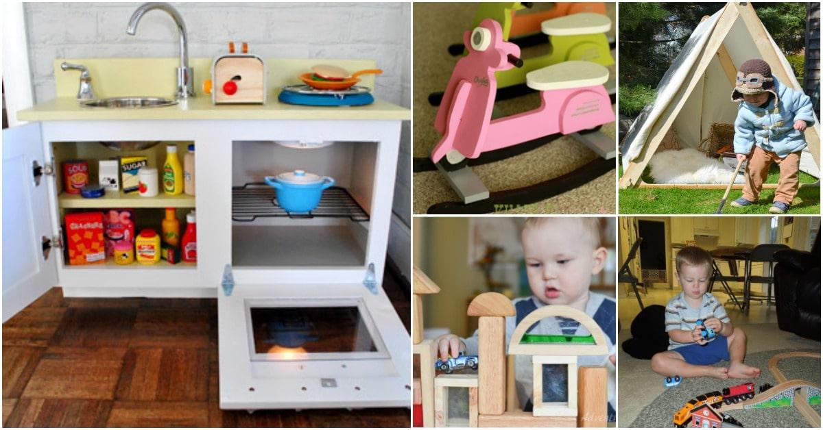 30 Diy Rustic Wooden Toys Kids Will Love Diy Crafts