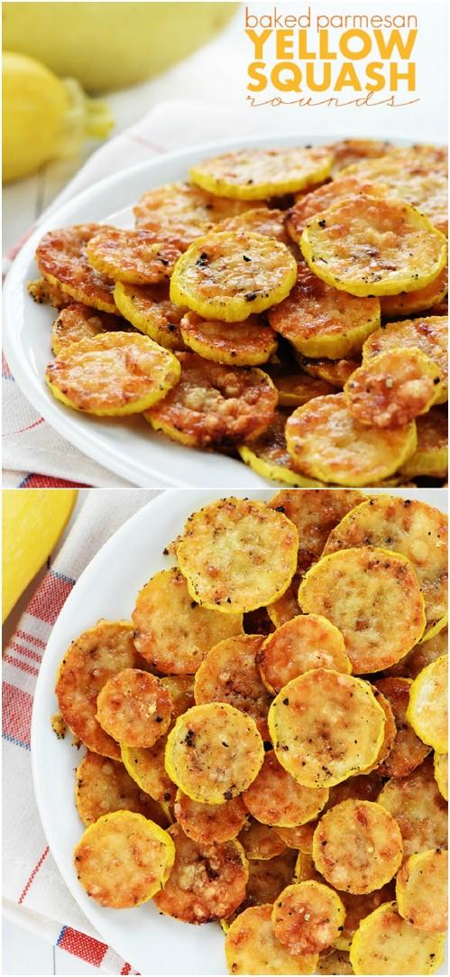 Baked Parmesan Yellow Squash