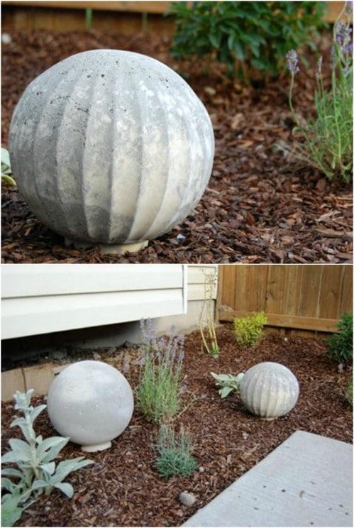 Easy DIY Concrete Garden Balls