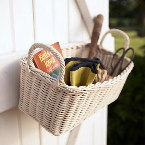 Easy Wicker Basket Storage