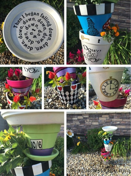 Alice In Wonderland Inspired DIY Bird Bath