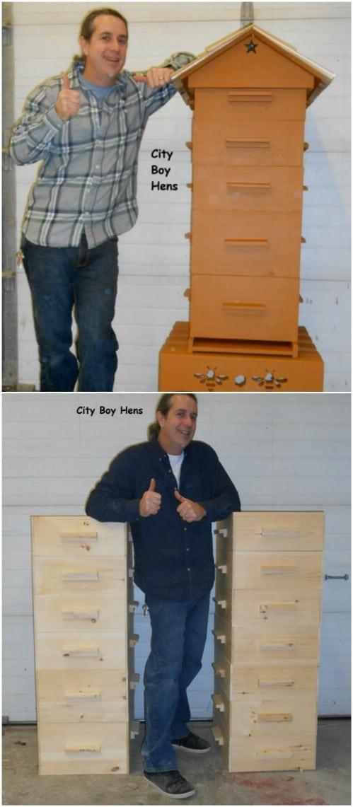 Simple DIY Wooden Multi Nest Beehive