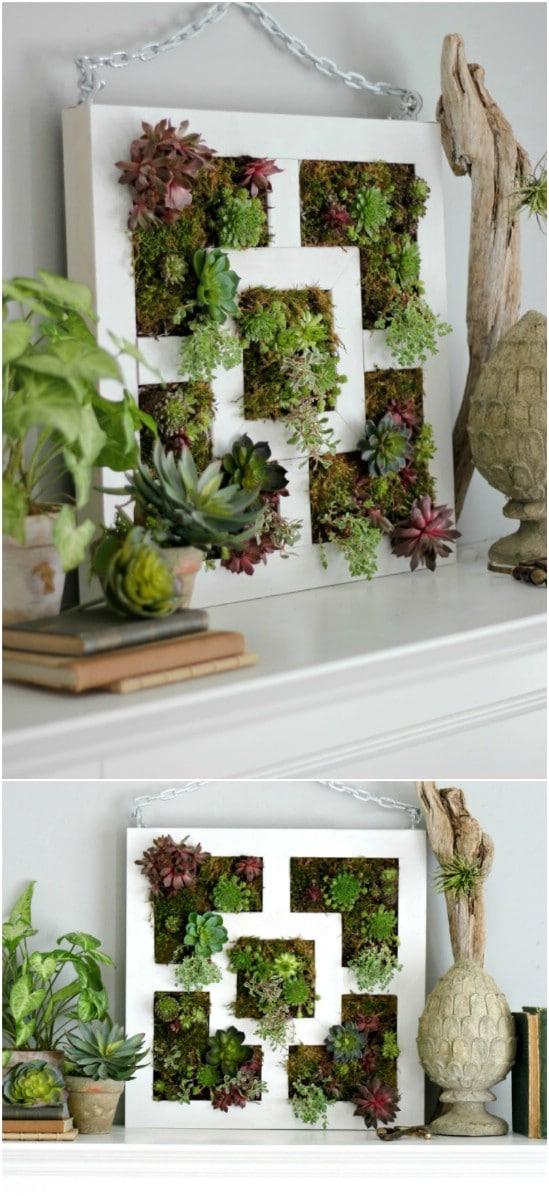 Repurposed Lack Table Succulent Garden