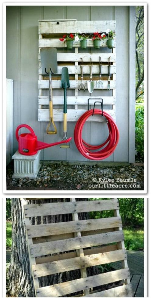 DIY Upcycled Pallet Garden Organizer