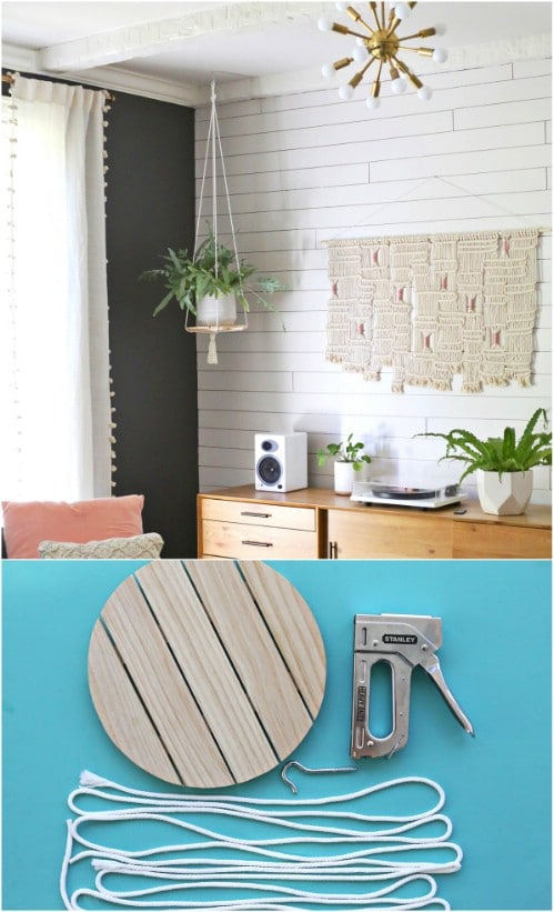 DIY Wooden Hanging Shelf