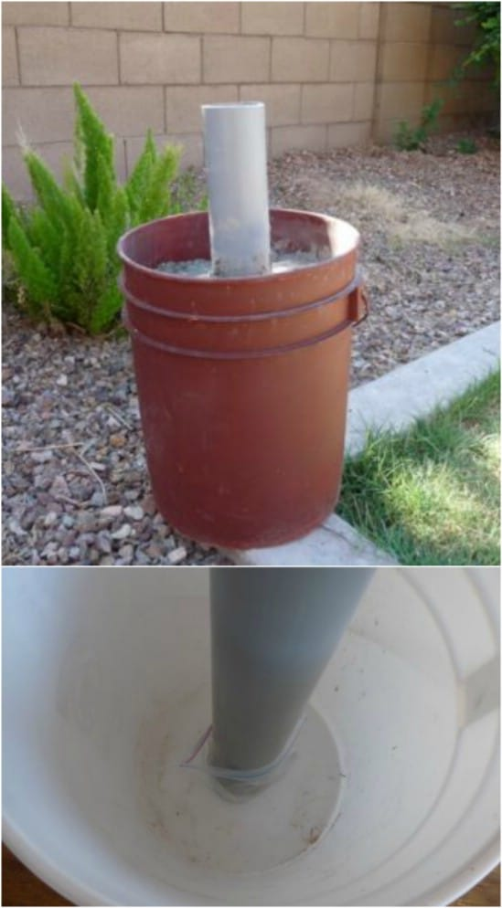 Easy DIY Patio Umbrella Stand