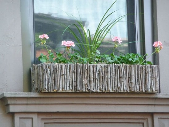 DIY Twig Window Box