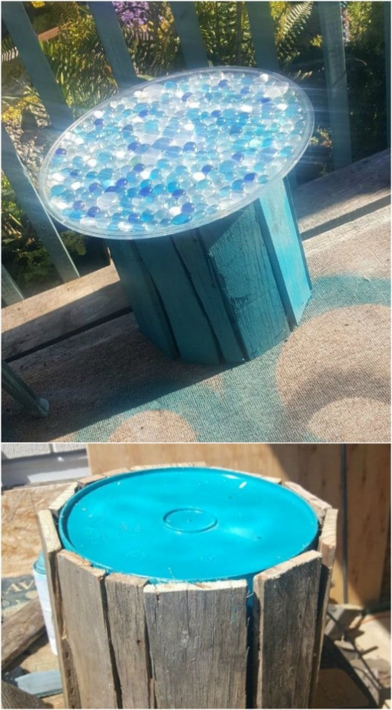 DIY Five Gallon Bucket Patio Table