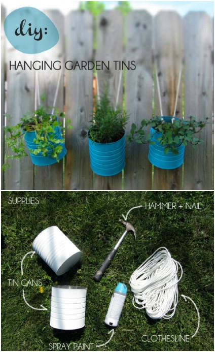 Upcycled Can Flower Tins