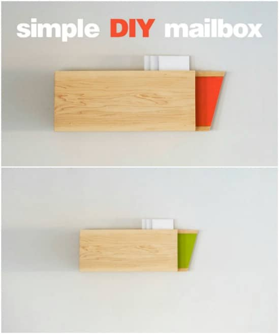 Easy DIY Maple Wood Mailbox