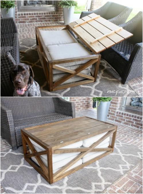 Easy DIY Outdoor Storage Table