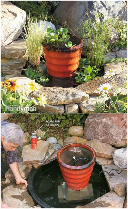 DIY Garden Pond With Fountain