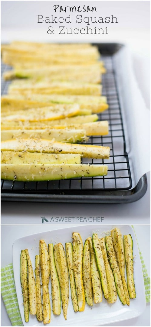 Baked Zucchini And Squash Spears
