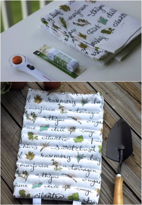 Roll Up DIY Kneeling Pad