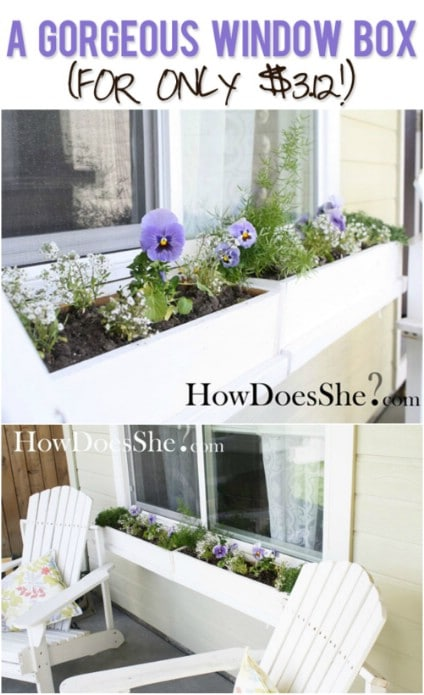 Amazing $3 Window Box
