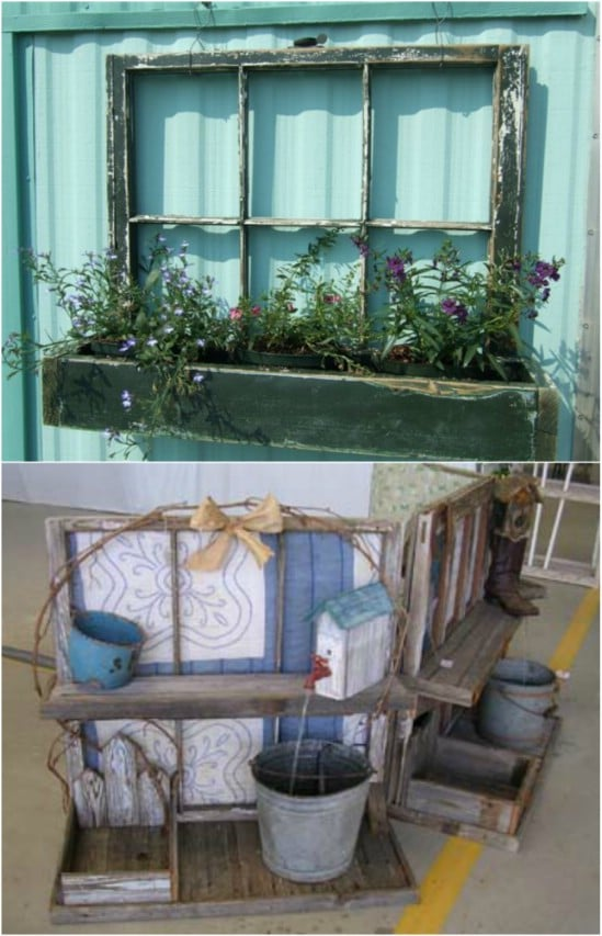 DIY Window Box From Upcycled Window