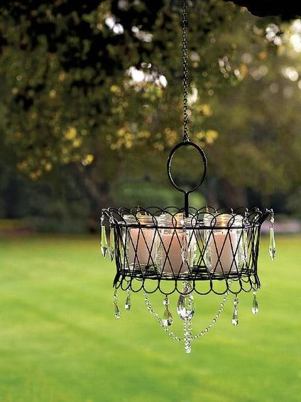 Simple DIY Outdoor Garden Chandelier