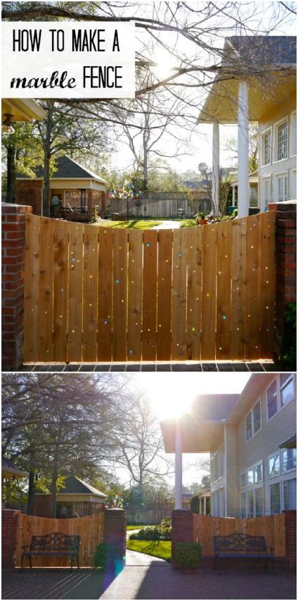 DIY Marble Garden Fence