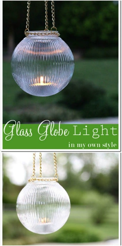 DIY Hanging Glass Garden Lights