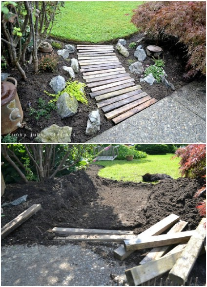 Upcycled Pallet Walkway