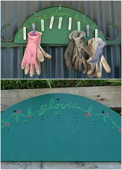 Quick And Simple Garden Glove Rack