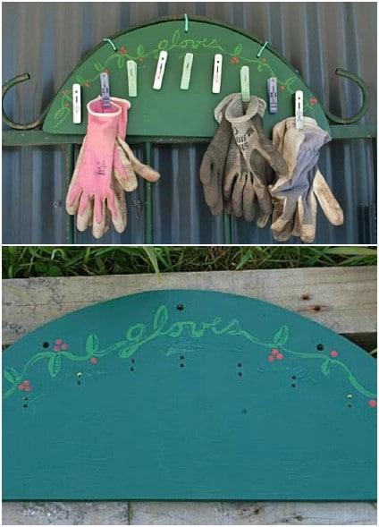 Quick And Simple Garden Glove Rack