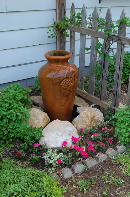 Small DIY Garden Fountain