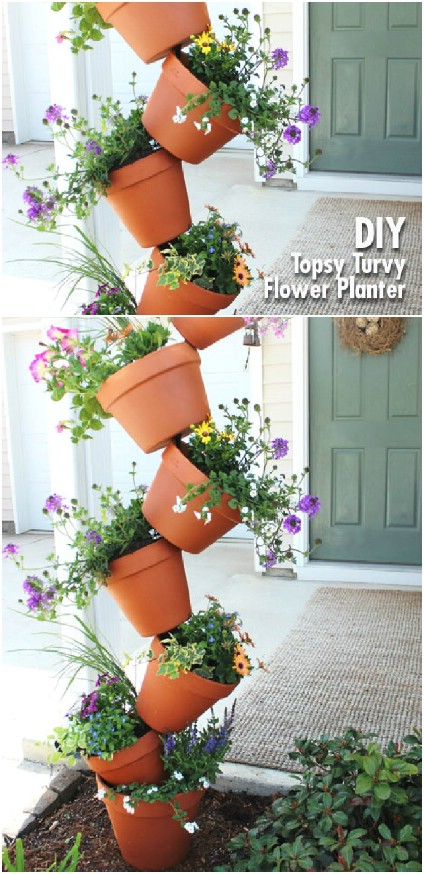 Whimsical Topsy Turvey Planter