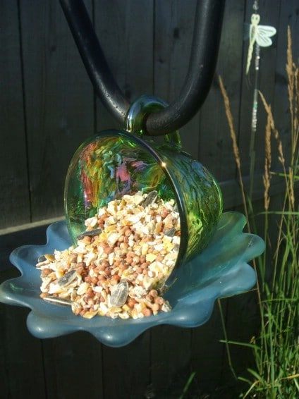 Upcycled Teacup Bird Feeder