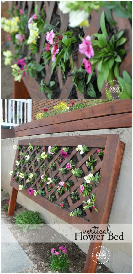 DIY Vertical Flower Bed