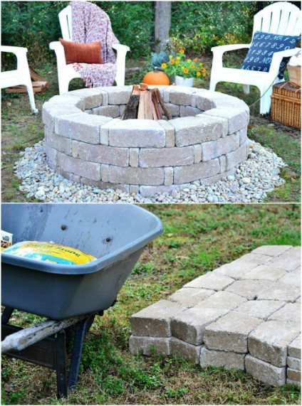 Quick And Easy DIY Firepit